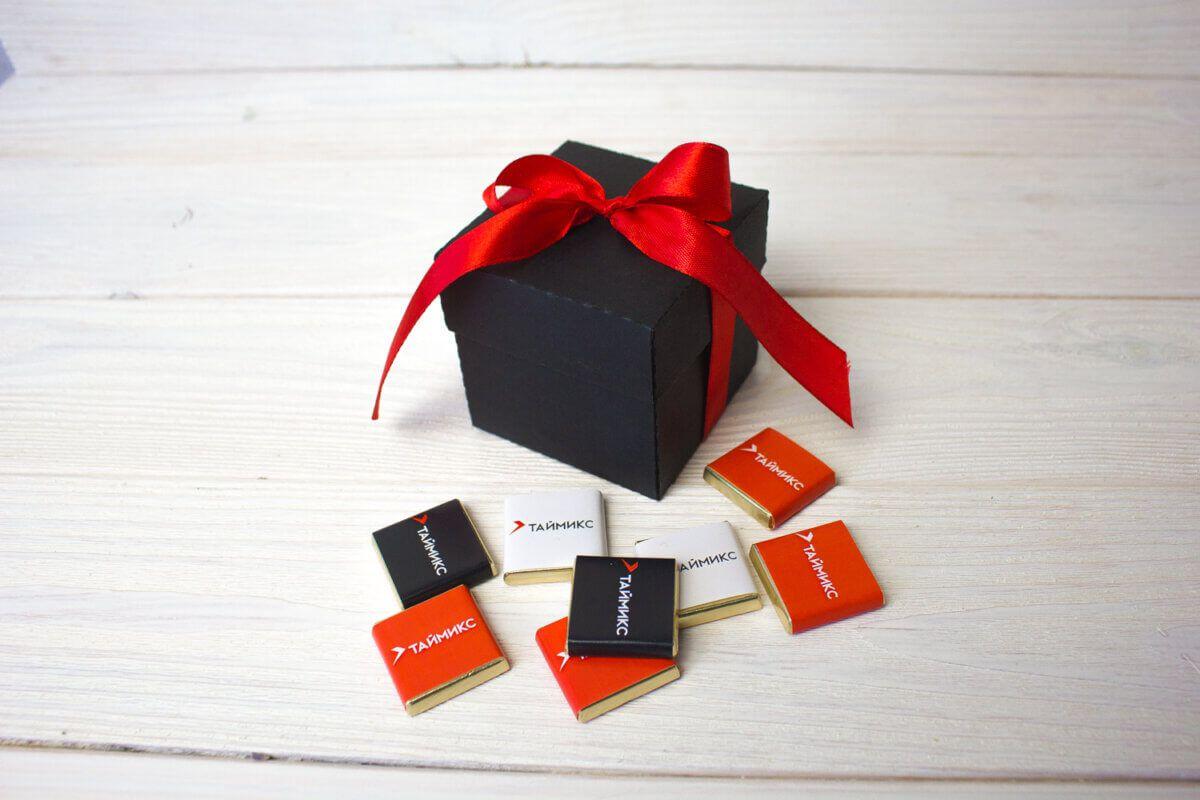 Подарок с шоколадом