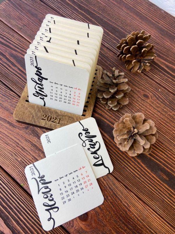 Карточный переставной календарь